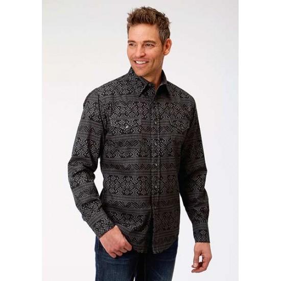 Chemise Roper noir et gris