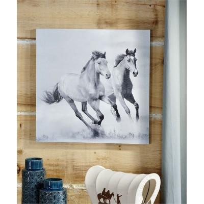 Toile chevaux 20 X 20 po