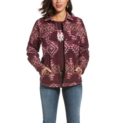 Jacket Ariat bourgogne aztec femme