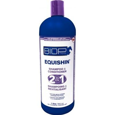 EquiShin BIOPTEQ 2 en 1 shampoing et revitalisant 1 L
