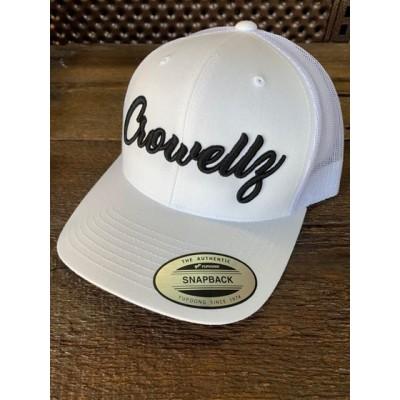 Casquette Crowellz blanche logo noir