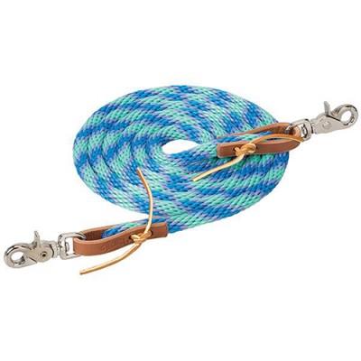 Rêne de baril Weaver 3/8X8 lilac menthe et bleu