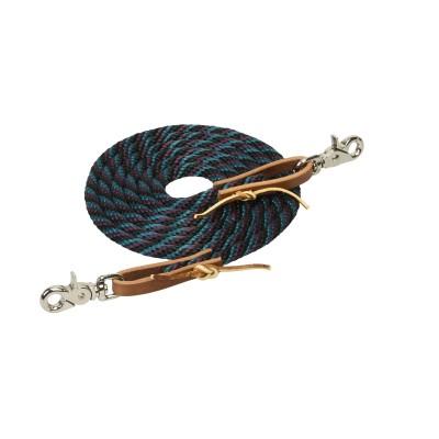 Rêne de baril Weaver 3/8X8 noir, teal et mauve