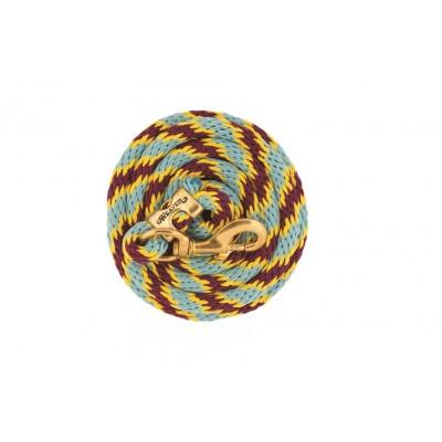 Laisse Weaver 10' jaune, bourgogne et bleu