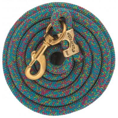 Laisse Weaver 10' mosaïque aqua et framboise