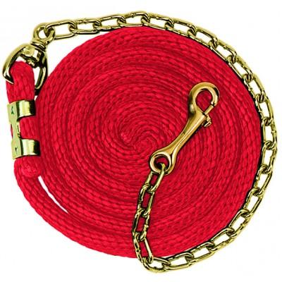 Laisse weaver avec chaîne 8'6 rouge