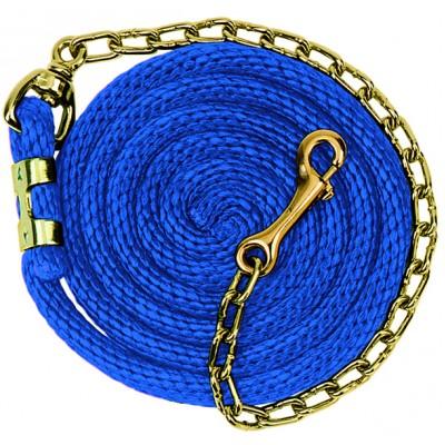 Laisse Weaver avec chaîne 8'6 bleu