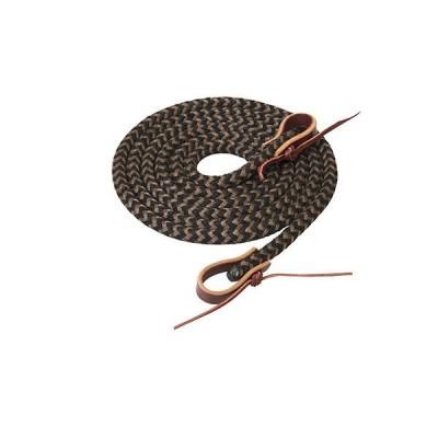 Rêne tressé Weaver 1 / 2 X 8' noir, brun