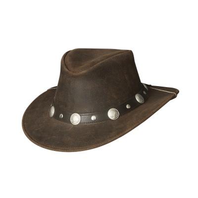Chapeau crackled cuir