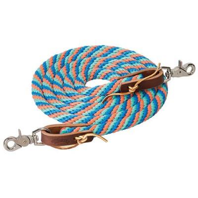 "Rêne de baril 5/8"" X 8' menthe, bleu, corail"