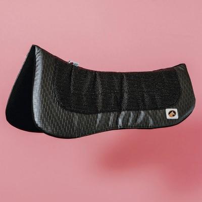 Ecogold half pad flip dressage gris
