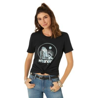 T-shirt Wrangler noir femme