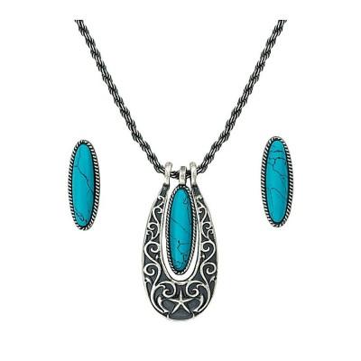 Ensemble collier et boucle d'oreilles, turquoise MONTANA