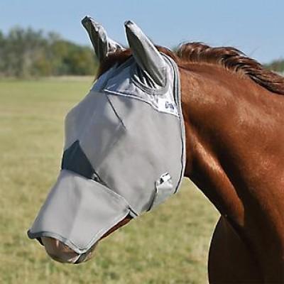 Masque à mouche Cashel gris nez long cheval