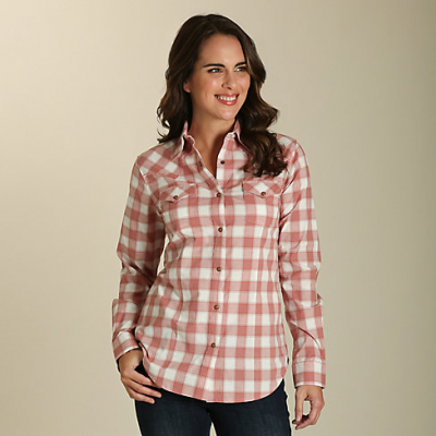 Blouse Wrangler carreaux rose