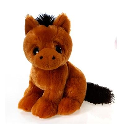 Peluche cheval roux 9 po