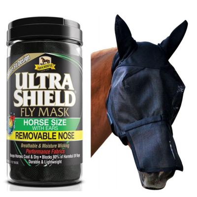 Ultrashield Absorbine Masque mouche avec nez cheval